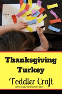 Thanksgiving Turkey Toddler Craft