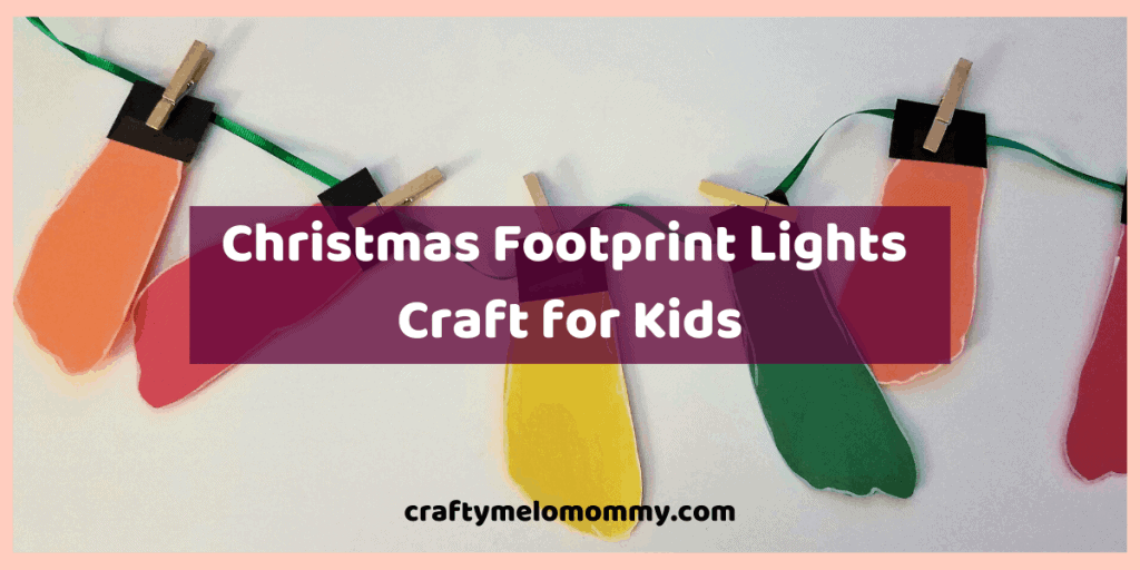 Looking for a Winter Christmas craft for your kids to make? Do you also want it to create little or no-mess? This is the perfect Christmas craft for your kids to make. This cute footprint craft can also make an adorable handmade Christmas gift for grandparents. It can also be used to make a simple DIY Christmas card. Using only a few supplies, you and your child will have a great time making this DIY Christmas decoration. Best of all, this cute craft is quick and simple! #Christmascrafts
