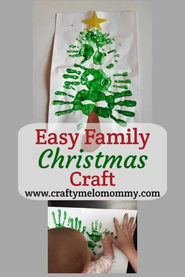 Easy Handprint Christmas Craft
