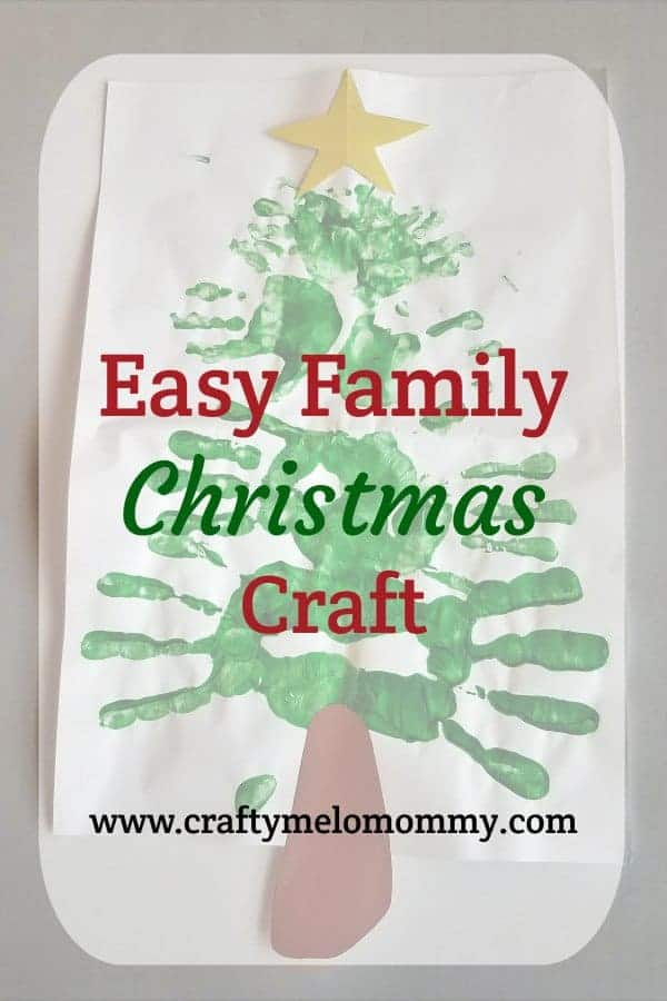 Are you looking for a Christmas craft that even the baby can do? This is the perfect craft for families to make together. Your family can make a handprint Christmas tree using paint and handprints! Use as a homemade DIY decoration for your home this Christmas season. This idea would also be amazing as canvas art for the holiday season. Families can make a new Christmas tree craft each year to see how the tree changes from year to year. Also included is a no-mess option to make this tree!