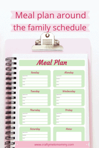 Monthly Meal Planner with Schedule