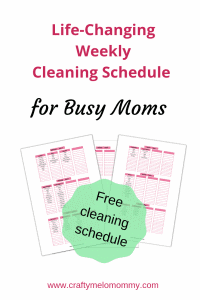 Create a unique weekly cleaning schedule. Life-changing schedule to keep your whole house clean.