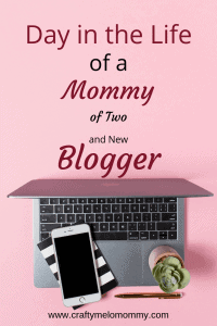 A day in the life of a Mommy with 2 and a new blog. Includes a typical schedule and routines.