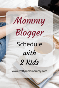 Mommy Blogger's schedule with 2 little ones at home. A typical schedule I use to get more done. Also, I share my night routine that helps me have a more productive day tomorrow