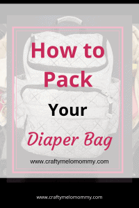 How to pack and organize your diaper bag. #diaperbagorganization #bestdiaperbag #backpackdiaperbag