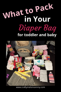 What you need to pack in your diaper bag for a toddler and baby. #momoftwo #diaperbagchecklist #momlife