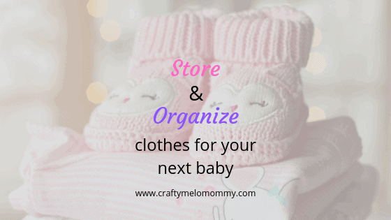 Easy organizing idea for storing clothes for your next baby