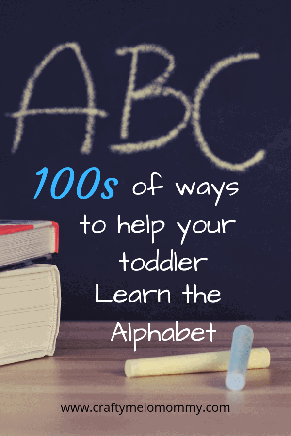 Make learning letters fun and exciting for both you and your toddler. Try these actives.