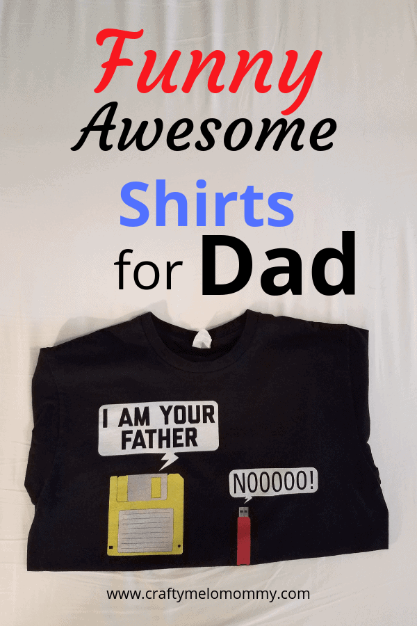 Need a funny and awesome shirt for the nerdy Dad in your life? Look no further! Awesome shirts for dads who like superheroes, math, science, computers, gaming, and sci-fi.
