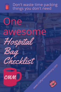 What to pack in your hospital bag for mommy, daddy, baby, and big sister/big brother.
