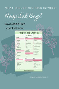 2nd time around mommy's actual hospital bag checklist. FREE PRINTABLE