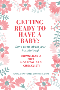 How to take charge of packing your hospital bag! Free printable checklist! Plus tips on: what to pack, when to pack, and how to organize your bag.