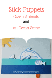 Create this fun ocean scene and popsicle stick puppets with your preschooler or toddler.