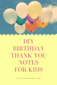 Create DIY birthday thank you cards with your child.
