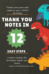 Make unique thank you cards. An easy handmade touch to say thank you for celebrating with us. #simplediykidthankyou #kidthankyoucards