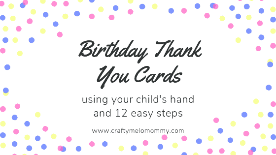 12 Easy steps, your child's handprint, and amazing thank you cards!