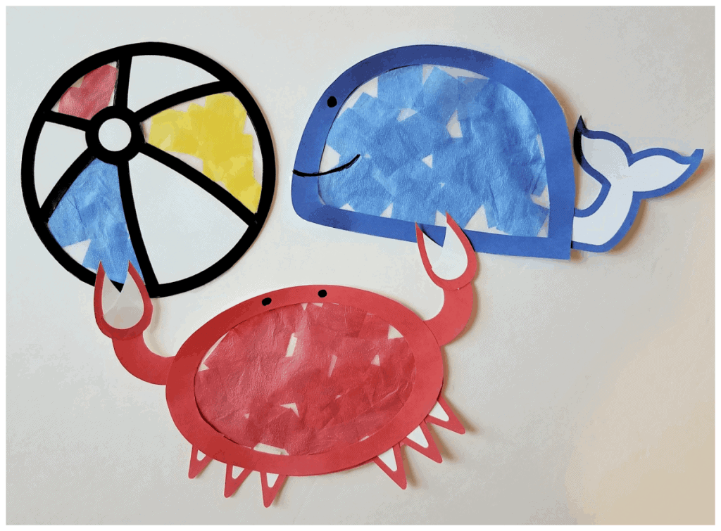 Summer art for preschoolers