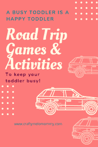 Great ideas to entertain your toddler on during a road trip.