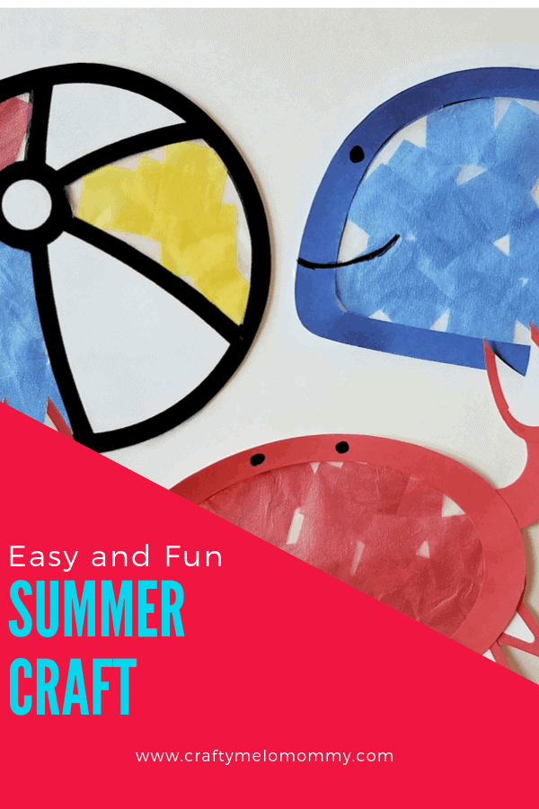 Fun summer craft for preschool. Easy enough for toddler or preschooler.