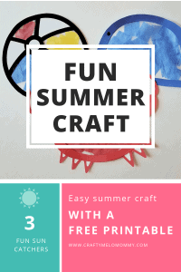 Perfect summer craft to make with your 3 year old. FREE Printable includes 3 templates, directions, and a shopping list.