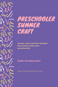 Summer crafts for preschoolers. Easy to make and fun to create.