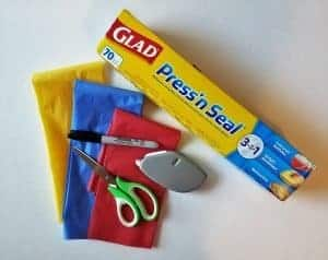 Easy tissue paper summer craft