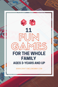 Family game night fun for your toddler and older kids. Both indoor and outdoor fun.