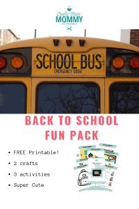 Easy back to school crafts and activities for 2 year olds. Free Printable!!!