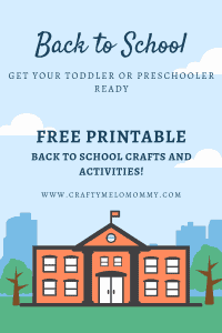 FREE PRINTABLE 5 back to school crafts and activities.
