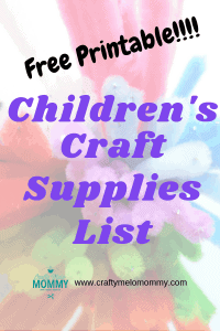 These are the basic kids craft supplies everyone should keep available in their house for kids arts and crafts