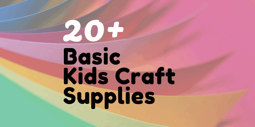 Basic Kids Craft Supplies