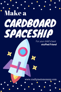 Easy cardboard spaceship crafts for toddlers. BONUS: Free space themed coloring pages.