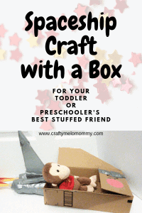 Easy spaceship craft for you and your toddler or preschooler using a small box.