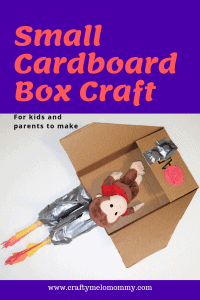 Simple cardboard box craft project for preschoolers or for toddlers. Make an easy spaceship for your kid's best stuffed friend!