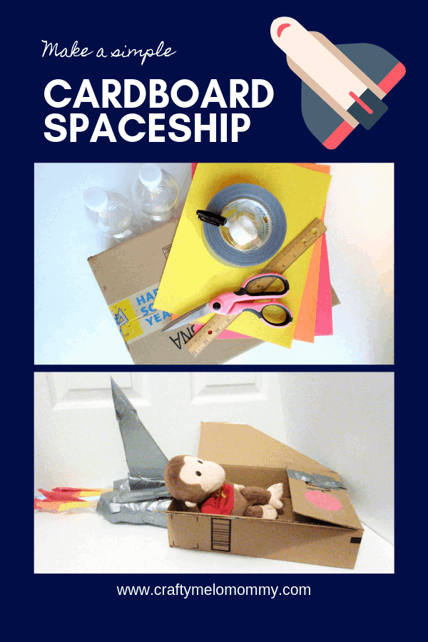 Small cardboard box craft idea with a space theme! Includes FREE PRINTABLE COLORING PAGES!