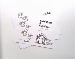 Make an easy dog book with your kids