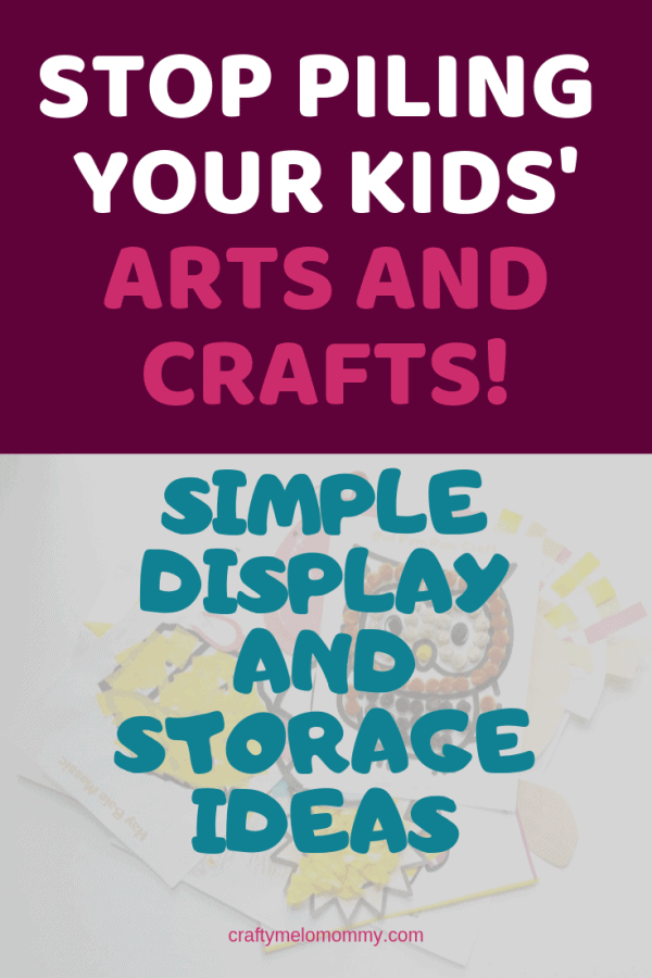Displaying your kids' artwork is important. These are a few ideas to display your child's artwork in unique ways. These displays work in may different rooms including the kitchen, playroom, and hallways. When you need to make room for some of your child's new artwork, there are 3 different ways to organize and store all of your child's artwork and crafts. These ideas include photo books. #kidsartworkdisplayideas #easilystorekidsaretwork #howtodisplaykidsartwork #howtostorekidsartwork