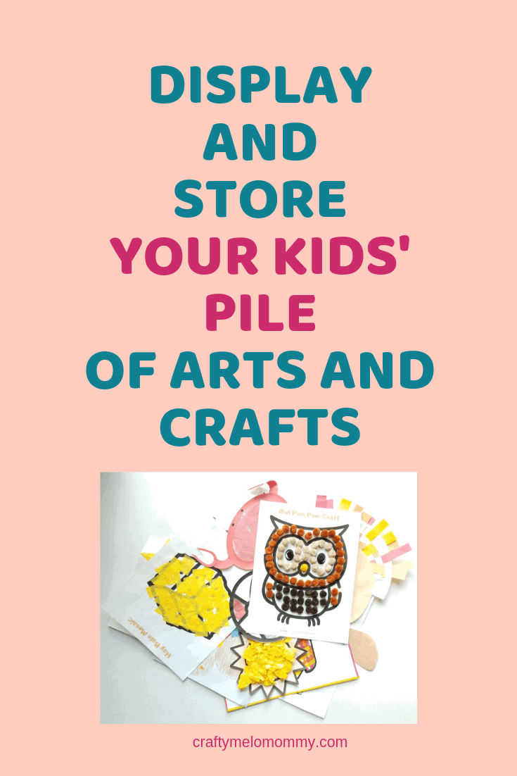 Displaying and storing your kids' artwork doesn't need to be hard. Here are a few different ways to display your child's artwork using walls, shelves, signs, frames, corkboard, and ikea ideas. Also included are 3 different ways to store and preserve your child's artwork for years to come. #kidsartworkdisplayideas #kidsartworkdisplayonwall #uniquekidsartworkdisplayideas