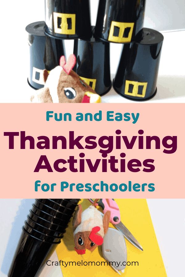 5 Thanksgiving Activities for kids. They also help with both fine motor skills and gross motor skills. Great for indoor or outdoor Thanksgiving fun. Super Simple to set up and lots of fun to play. Great for kindergarten, preschool, preK, toddlers, and kids at heart.