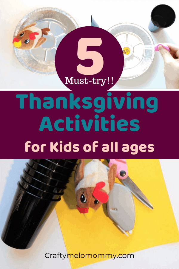 Fun Thanksgiving Activities for the whole family. Perfect for kids and for the whole family. These 5 Thanksgiving Activities help with both fine motor skills and gross motor skills. Great for indoor or outdoor Thanksgiving fun. Super Simple to set up and lots of fun to play. All of these Thanksgiving Activities are for kids, for families, for elementary, preschool, for toddlers, PreK, and for kindergartners. #ThanksgivingActivities #EasyThanksgivingActivities #FunKidsThanksgivingActivites