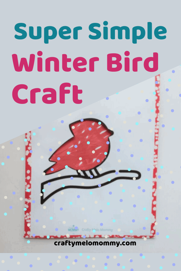 Simple and quick crafts to do with toddlers in the winter. Easy winter crafts for kids are perfect when you are stuck inside on a snow day or a cold winter's day. Each of the crafts take 15 minutes or less to create. There is a winter bird craft, a snow globe craft, a winter craft decoration, and a snowman craft. Perfect preschool and toddler art you can create at home. Use construction paper, sandwich bags, and pom-poms to make these cute crafts. #snowdayactivites #prekcraftswinter