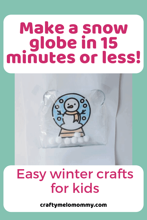 These winter crafts for kids are easy to at home and will help entertain your toddler, preschooler, or elementary aged kids when you are stuck inside. Simple and quick crafts to do with toddlers in the winter. Easy winter crafts for kids are perfect when you are stuck inside on a snow day or a cold winter's day. Each of the crafts take 15 minutes or less to create. #Wintercraftsforkids #winterfuncrafts #wintercraftsforchildren #easywintercraftsforkids #funwintercrafts #craftsforkids