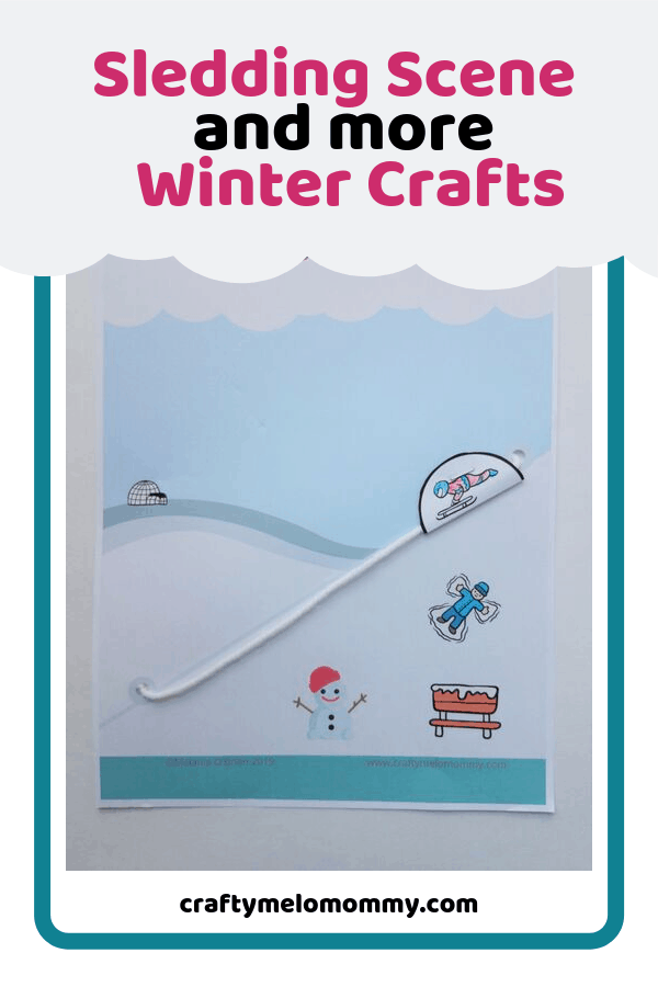 Let me help you entertain your kids on those cold winter snow days. I have created 15 minute winter crafts you and your kids can do together at home. You can stay inside and create a winter construction paper craft, a simple snow globe, a cute snowman craft, a beautiful winter bird, and a super fun simple sledding craft. These are perfect for younger kids toddler aged and up. I hope you have lots of winter fun with these. #easywintercraft #DIYwintercraftforkids #DIYwinterdecoration
