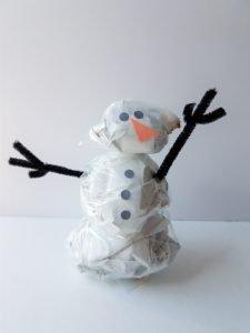 Easy indoor snowman winter craft