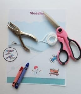 Sledding scene supplies