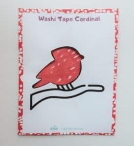 Washi tape Cardinal finished