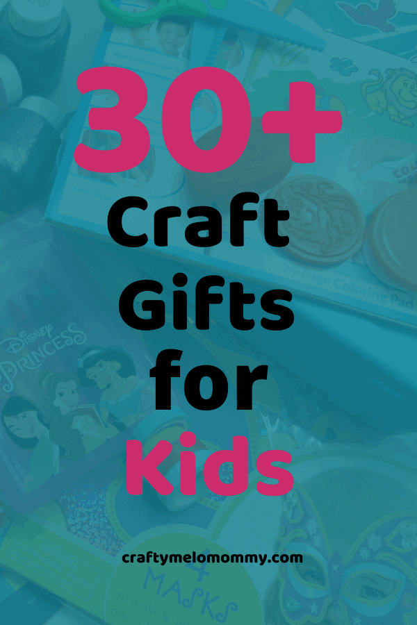 Don't just buy another toy, get a craft and let your child express themselves in a fun & creative way! These are some fun gift ideas for a crafty kid. Over 30 different gift ideas for your kids! Perfect toddler craft gifts for kids 3-years-old and up! This list covers kids who like different kinds of crafts as well as different budgets! All of these ideas are sure to make any child happy and keep them entertained! #FUNGiftsforCraftyKids #KidsCraftGifts #CraftyGiftsforKids #craftpresentsforkids