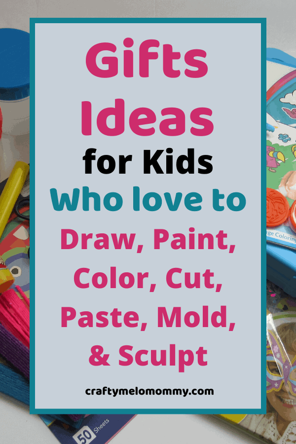 Are you looking for some perfect gift ideas for the young crafty kid in your life? This is a list of over 30 different items all for children 3 years and up. The gift ideas on this list are perfect for any gift budget. All of these ideas are sure to make the crafty kids in your life happy and keep them entertained! There are perfect gift ideas for crafty kids who like to: Draw and Paint, Color, Cut and Paste, Mold and Sculpt #kidgiftideas #artsandcraftgiftsforkids #Funkidscraftgifts