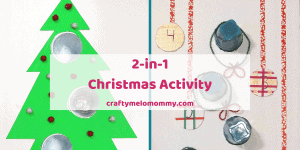 How do you entertain your family at Christmas? Make a 2-in-1 Christmas game! These games are perfect for kids 3-years old and up. They can be played over and over. You can also get the FREE PRINTABLE SCORECARD to help your family keep track of the points. This Christmas holiday is sure to be more fun with DIY games you and your kids can make together! Your kids will love decorating and creating their one of a kind games. BONUS: Helps children practice addition and taking turns! #ChristmasGames