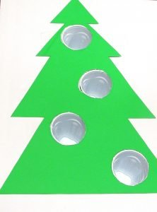 Line up tree with hole and tape down